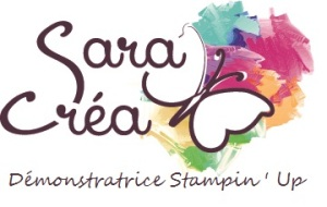 saracrea logo stampin up