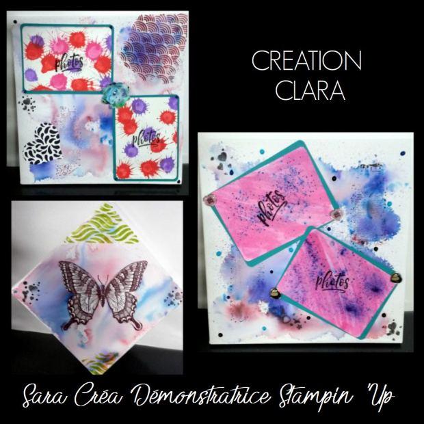 CREATION CLARA SARA CREA STAMPIN UP