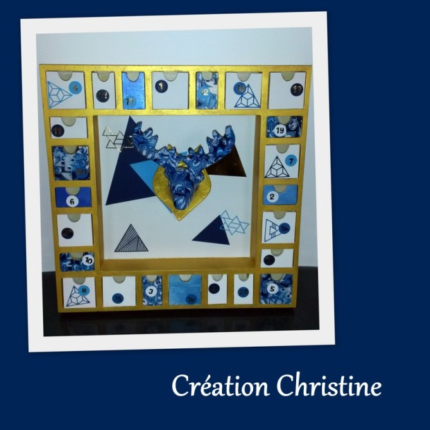 creation christine sara crea scrap calendrier de l avent