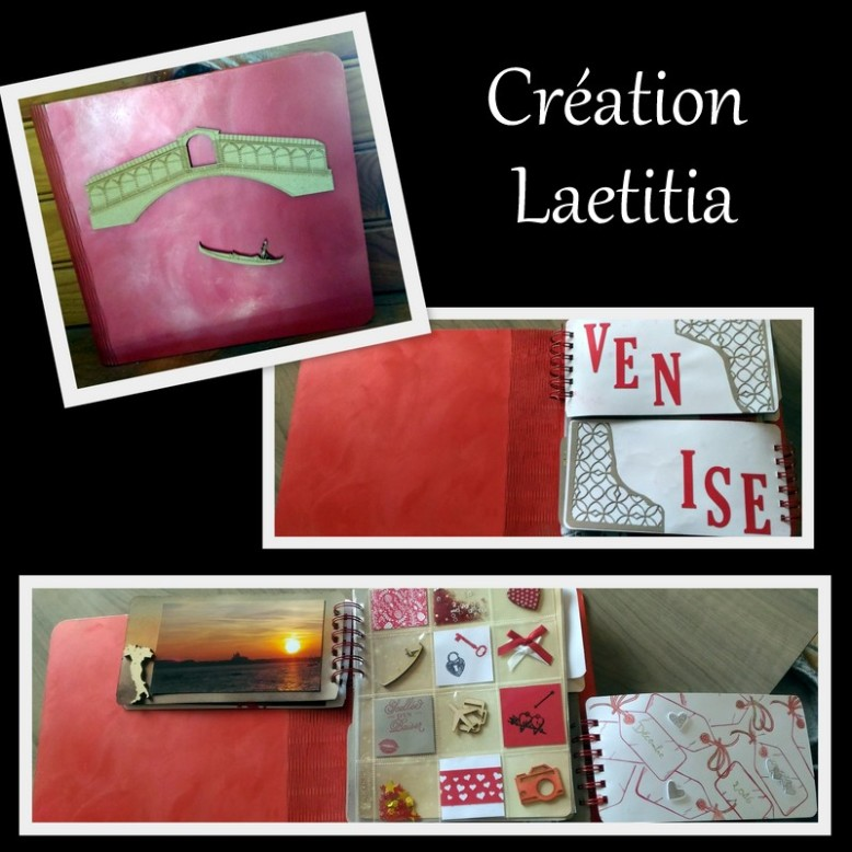 creation laetitia sara crea scrap album venise