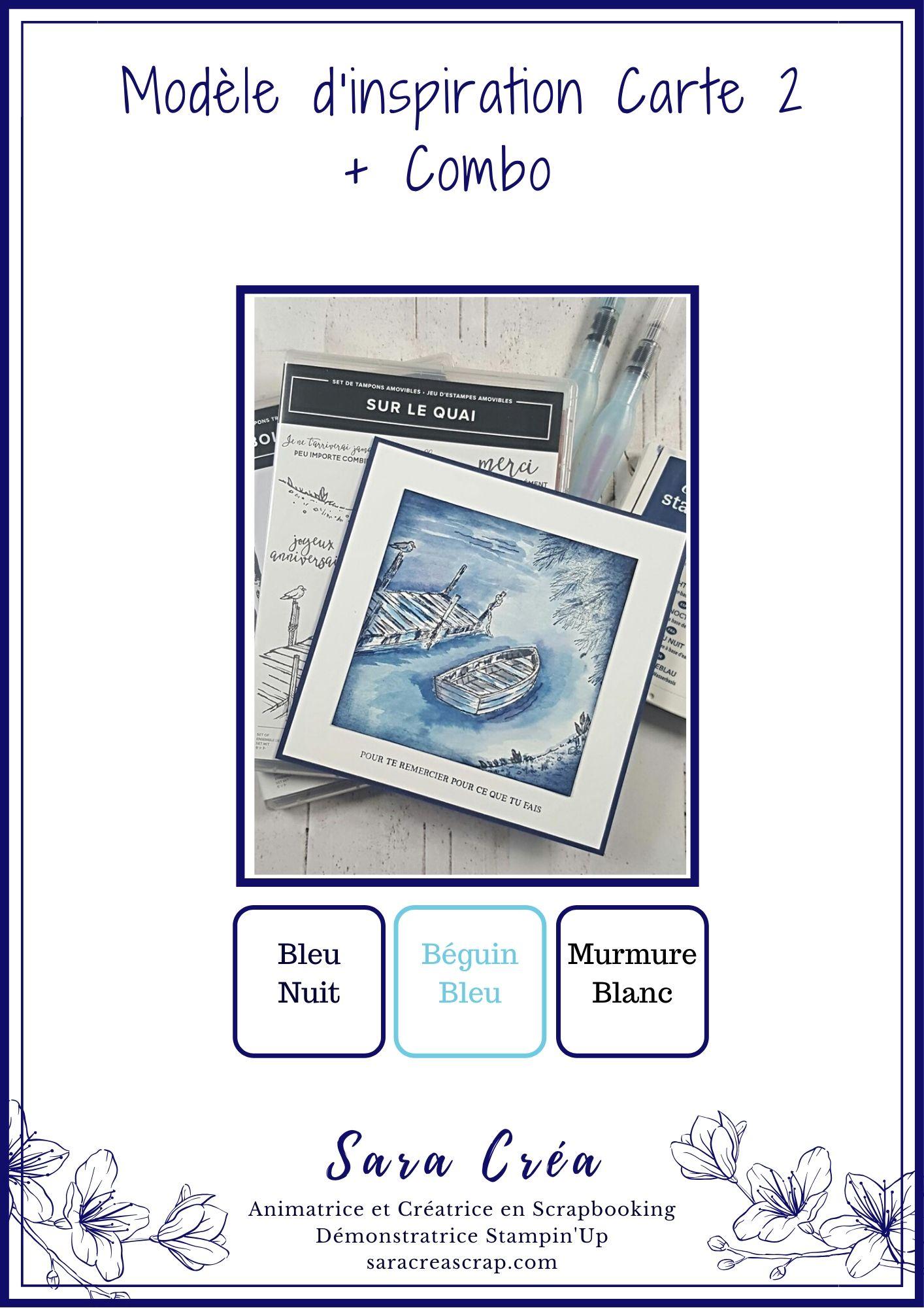 inspiration 2 carte sur le quai stampin up saracreascrap